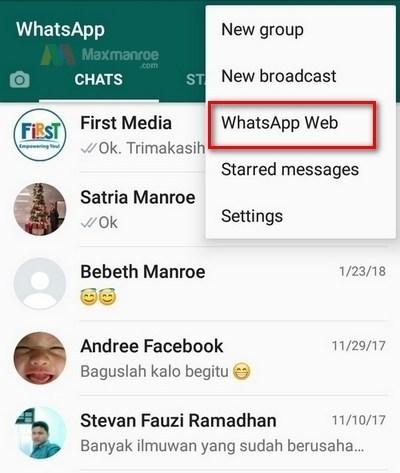 đăng nhập whatsapp trên máy tính