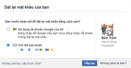 làm sao lấy lại mật khẩu facebook