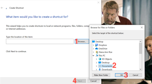 Cách tạo shortcut đến thư mục trong Windows 10