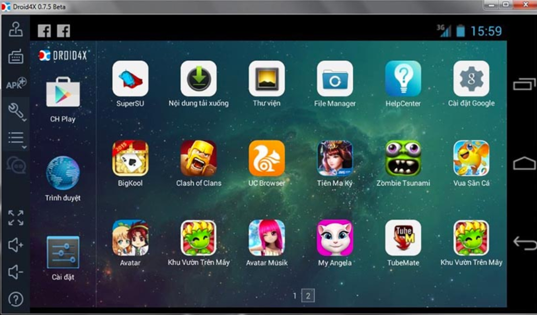 giả lập android droid4x cho win 10